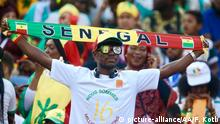 CAIRO, EGYPT - JULY 19: Senegalese fans support their team ahead of the 2019 Africa Cup of Nations final match between Senegal and Algeria at the Cairo Stadium in Cairo, Egypt on July 19, 2019. Fared Kotb / Anadolu Agency | Keine Weitergabe an Wiederverkäufer.