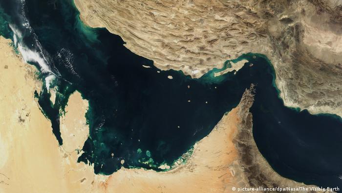 Снимок Персидского залива со спутника