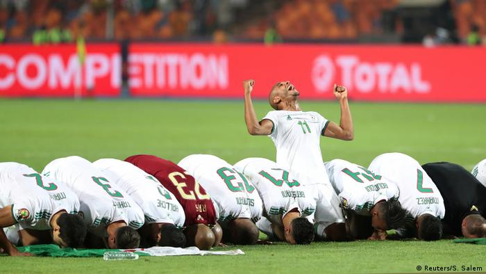 Ägypten Africa Cup of Nations 2019 | Finale Algerien gegen Senegal | Jubel (Reuters/S. Salem)