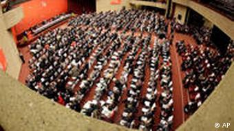 Der Sitzungssaal der letzten Ministerkonferenz der WTO 2009 in Genf (Foto: AP)