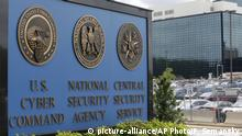 FILE - This June 6, 2013 file photo, shows the sign outside the National Security Administration (NSA) campus in Fort Meade, Md. A former National Security Agency contractor awaits sentencing in Baltimore's federal court for storing two decades' worth of classified documents at his Maryland home. Harold Martin's plea agreement calls for a nine-year prison sentence, but U.S. District Judge Richard Bennett isn't bound by the deal's terms when he sentences Martin on Friday, July 19, 2019. (AP Photo/Patrick Semansky, File) |