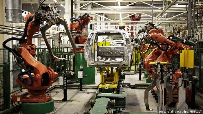 A vehicle production line at the new Renault-Nissan Alliance plant in Tangier