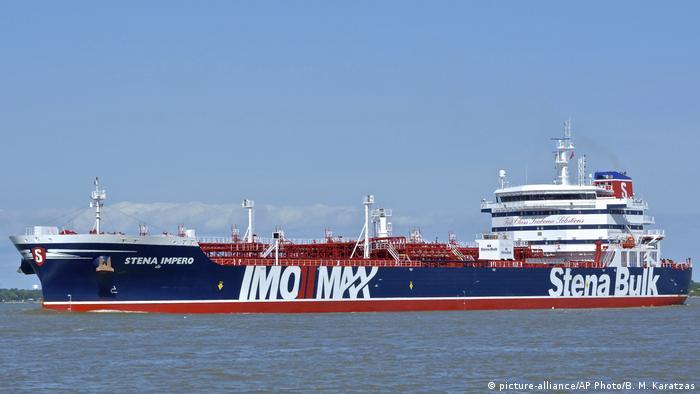 Öltanker Stena Impero (picture-alliance/AP Photo/B. M. Karatzas)