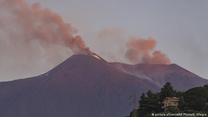 Smoke above Mount Etna