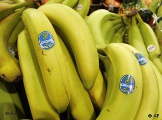 Chiquita bananas are piled on display at the Heinen's grocery store in Bainbridge, Ohio