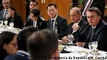 Brasilien Brasilia | Jair Bolsonaro, während Frühstück mit ausländischen Pressevertretern