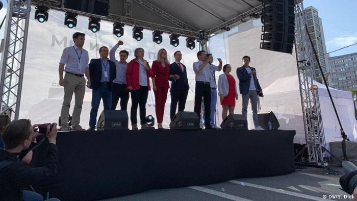 Opposition candidates took to the stage together