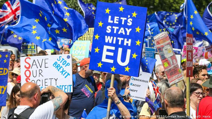 UK pro-EU campaigners hold 'No to Boris' march in London