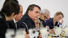 19.07./2019 Brasilianischer Präsident Jair Bolsonaro, während Frühstück mit der ausländischen Presse in Brasília - Brasilien.