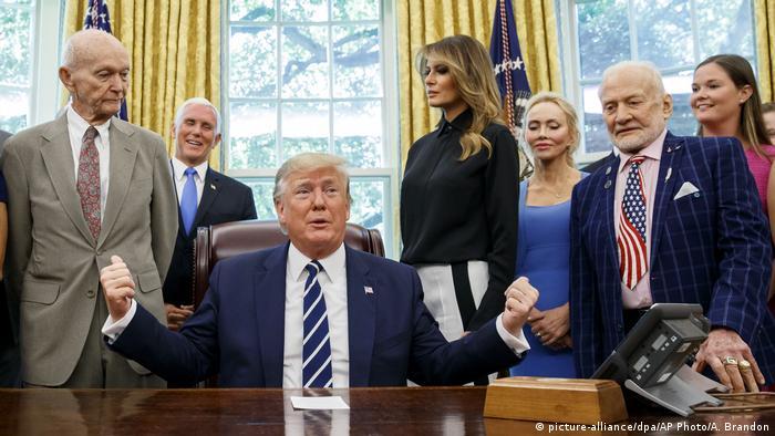 USA | 50 Jahre Mondlandung | Donald Trump, Mike Pence, Melania Trump, Michael Collins, Buzz Aldrin
