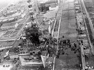 Foto de maio de 1986 mostra a destruição na usina
