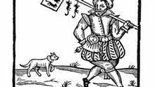 Illustration zur Erzählung der Sage des Rattenfänger von Hameln, Holzschnitt, um 1660