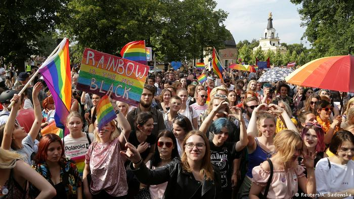 Gay pride march in Bialystok