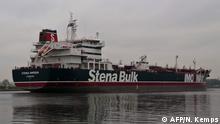 Öltanker Stena Impero liegt nun vor dem Hafen von Bandar Abbas