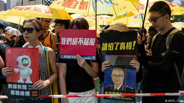 China Regierungsgegner-Demonstrationen in Hongkong (AFP/L. Chor)