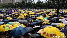 Protesters gather at Victoria Park to participate in an anti-government march in Hong Kong on July 21, 2019. - Hong Kong is bracing for another huge anti-government march on July 21 afternoon with seemingly no end in sight to the turmoil engulfing the finance hub, sparked by years of rising anger over Beijing's rule. (Photo by Laurel CHOR / AFP)