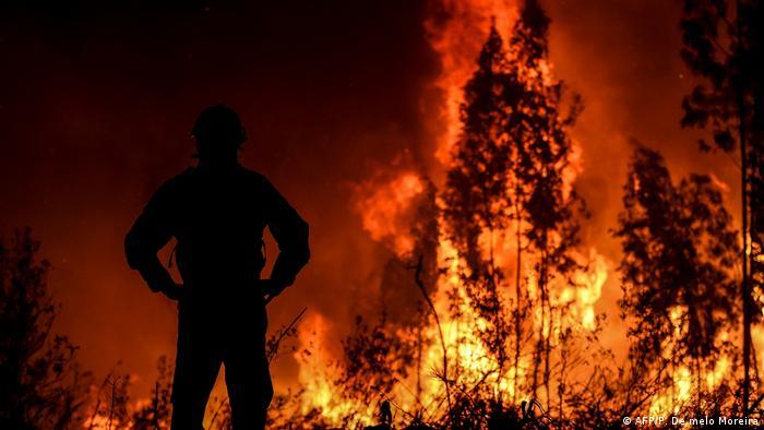 Schwere Waldbrände mitten in Portugal