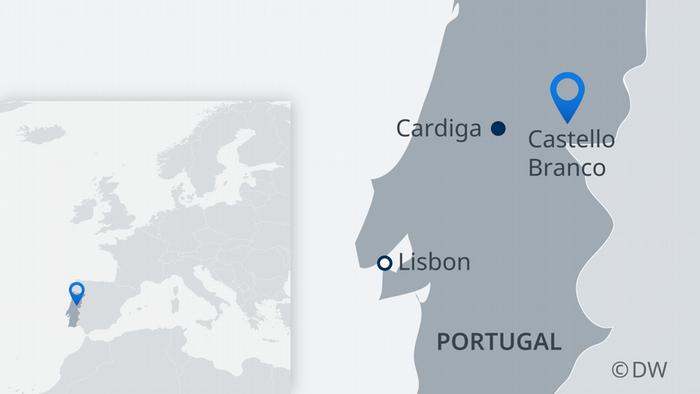 Infografik Karte Portugal Waldbrand EN