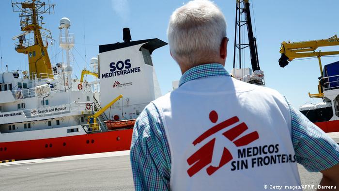 Spanien Valencia   SOS-Mediterranee und Ärzte ohne Grenzen