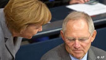 Bundestag Merkel und Schäuble
