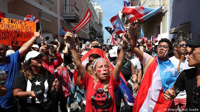 Puerto Rico Demonstration für Rücktritt Gouverneur Rossello