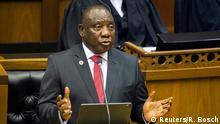 Südafrika Präsident Cyril Ramaphosa