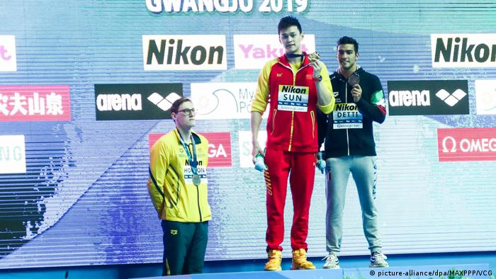 Gwangju 2019 FINA World Championships: - Mack Horton, Sun Yang und Gabriele Detti