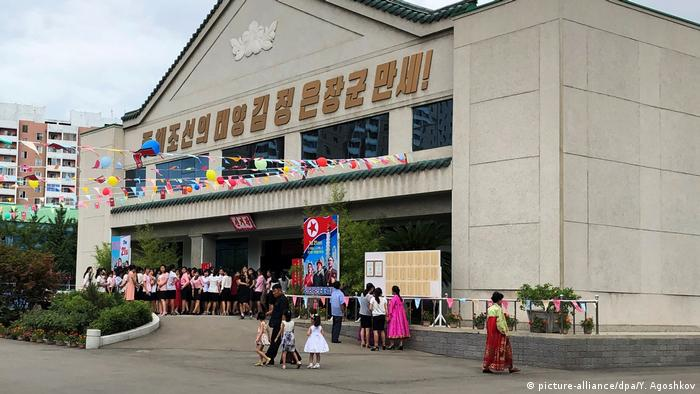 A polling station in North Korea