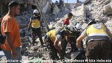 Syrien Russische Jets trafen auf den Marktplatz in der Provinz Idlib