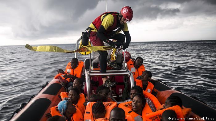 Операция по спасению людей, терпящих бедствие в открытом море