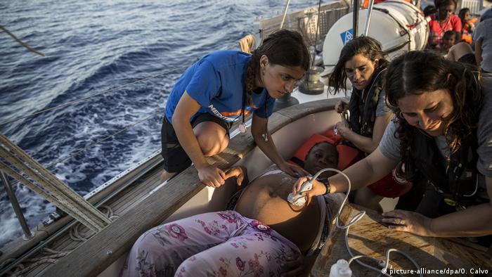 Akcja ratunkowa w pobliżu wyspy Lampedusa