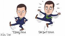 Karikatur von Sergey Elkin zu Wolodymyr Selenskyj & Sluha Narodu