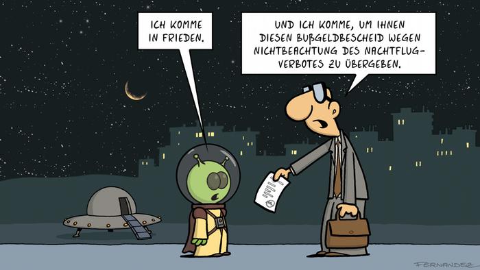 Fernandez-Cartoon-Reihe Verstehen Sie Deutsch?