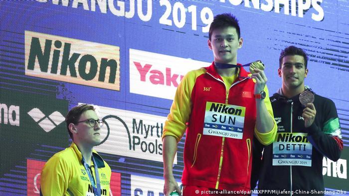 Südkorea Gwangju | FINA World Championships - Mack Horton, Sun Yang und Gabriele Detti