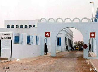 The outer wall of the Ghriba Synagogue in Djerba, Tunisia