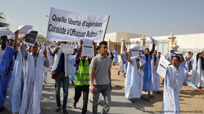 Mauritanien Protest (Getty images/AFP/A. O. Mohamed Elhadj)