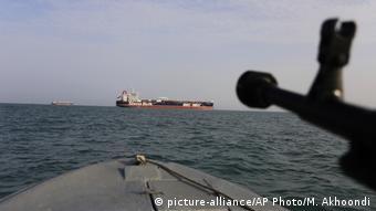 Lufa celująca w tankowiec w Zatoce Perskiej