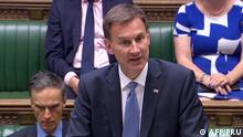 London, Jeremy Hunt spricht im Parlament NEU (AFP/PRU)