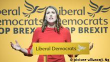 Newly appointed leader of the Liberal Democrats Jo Swinson makes a speech at Proud Embankment, London, England, UK on Monday 22 July 2019. Picture by Justin Ng/UPPA/Avalon. |
