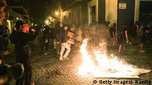 Puerto Rico Old San Juan | Ausschreitungen zwischen Demonstranten und Polizisten