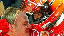 Rubens Barrichello und Michael Schumacher
