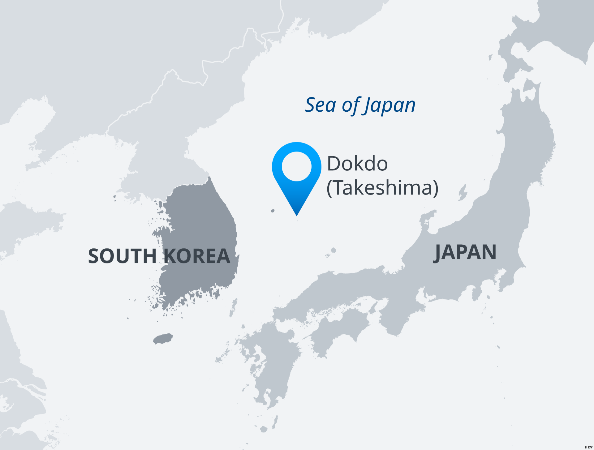 Map of Sea of Japan with location of Dokdo