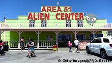 USA Nevada | Facebook Witz Area 51 zu stümen geht Viral (Getty Images/AFP/D. Becker)