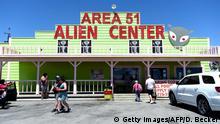 USA Nevada | Facebook Witz Area 51 zu stümen geht Viral