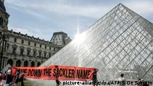 Frankreich Pariser Louvre entfernt Namen von umstrittenem US-Mäzen