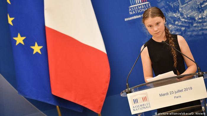 Greta Thunberg schwedische Umweltaktivistin (picture-alliance/abaca/D. Niviere)