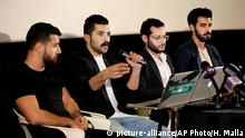 Die libanesische Gruppe Mashrou 'Leila oder Leila's Project (picture-alliance/AP Photo/H. Malla)