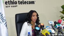 Ethio-telecom press conference Location: Addis Ababa, Ethiopia Date: 23.07.2019 Caption: Ethio-telecom CEO press conference Frehiwot Tamiru today gave a press briefing to journalists. Autor/Copyright: Getachew Tedla schlagworte: Ethiopia, Addis Ababa, Frehiwot Tamiru, Ethio-telecom