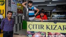 Türkei syrische Geschäfte in Istanbul