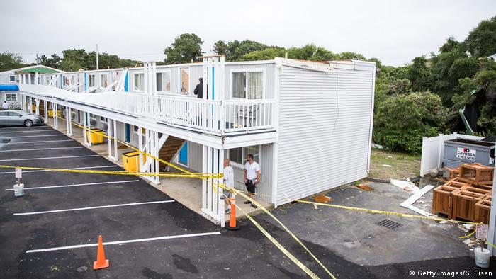 Hotel destroyed by tornado in Cape Cod